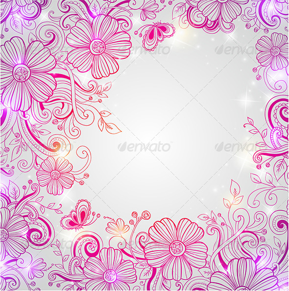 GraphicRiver Abstract Floral Background 5710103