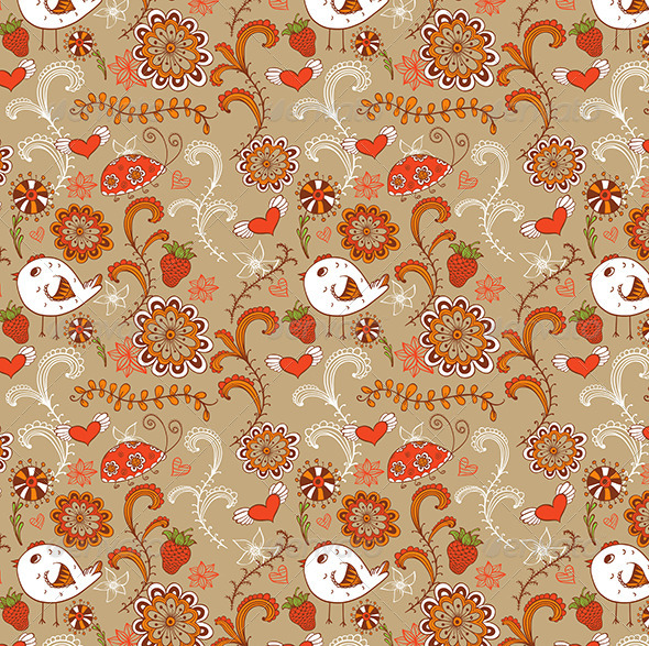 GraphicRiver Seamless Pattern with Bird 5710124