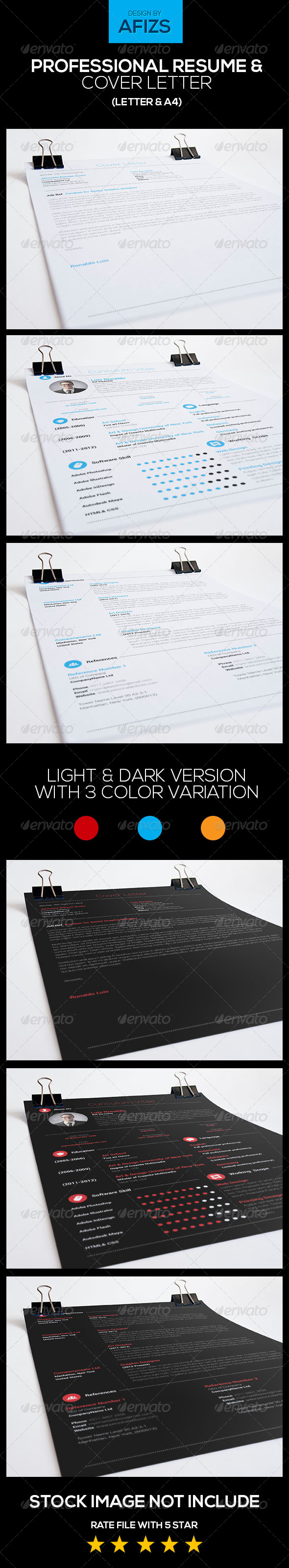 GraphicRiver Professional Resume & Cover Letter 5710145