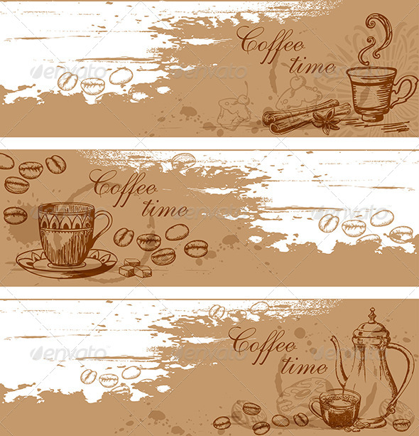 GraphicRiver Coffee Backgrounds 5710683