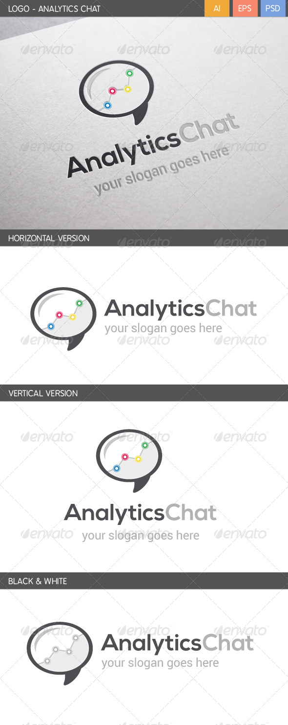 GraphicRiver Analytics Chat Logo 5710876