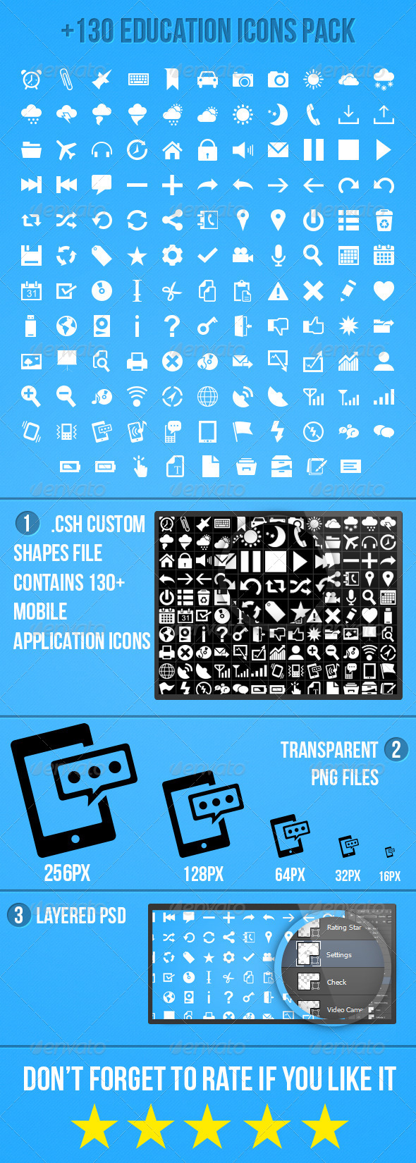 GraphicRiver Mobile Application Icons Pack 5706408