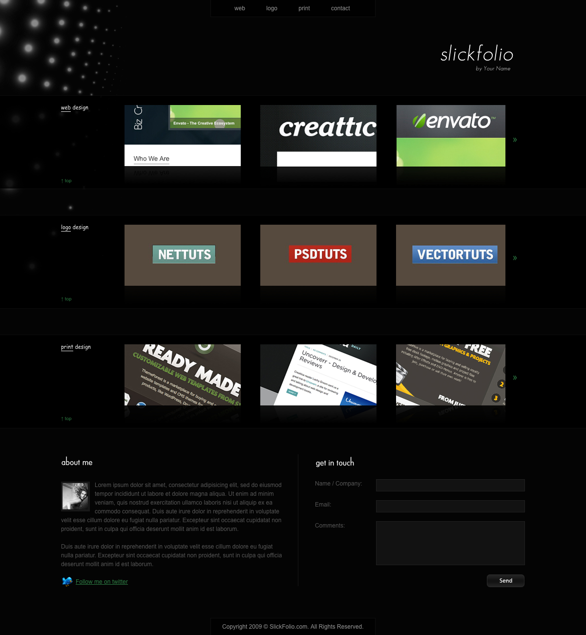 SlickFolio - Photographer / Web Designer Creative Portfolio - SlickFolio - One-page Creative Portfolio Theme.