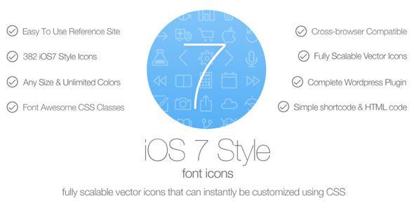 CodeCanyon iOS7 Style Font Icons Wordpress Plugin 5689249