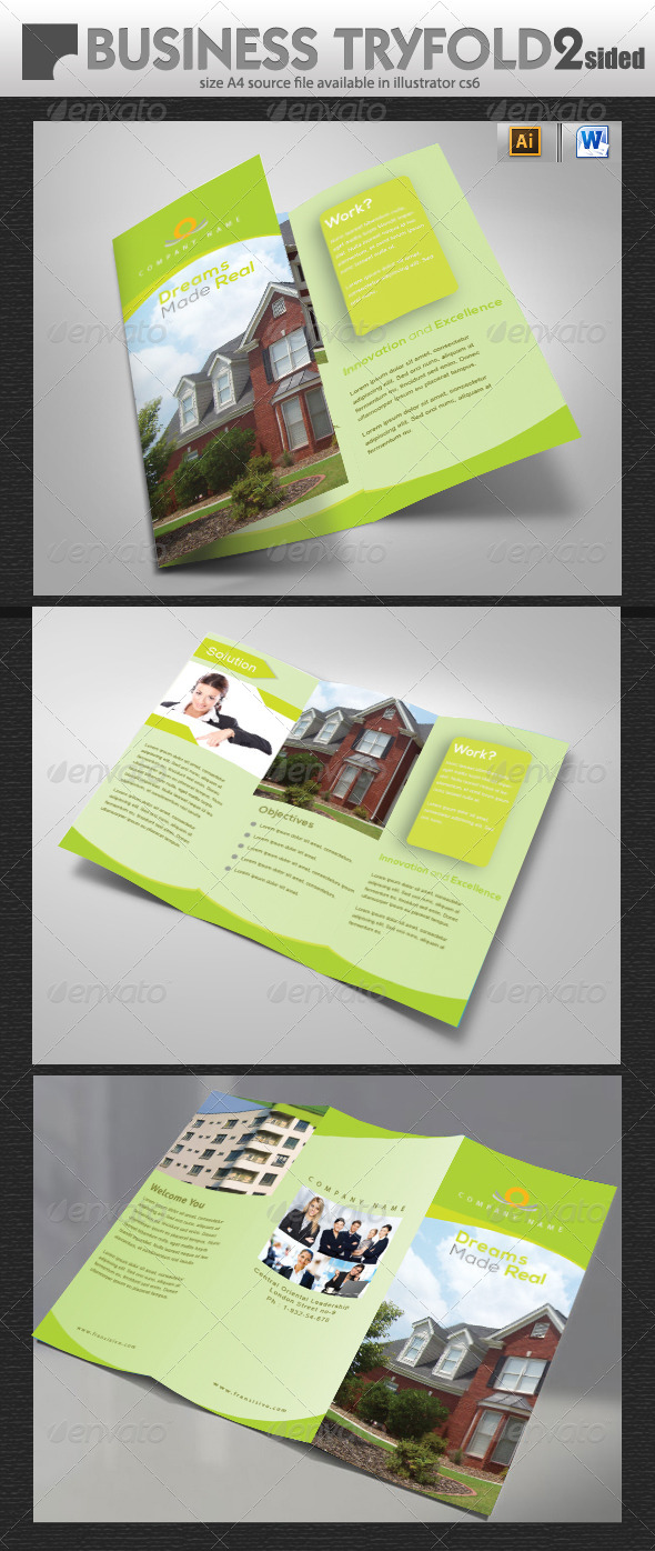GraphicRiver Real Estate Tri-Fold Brochure Design 5711977