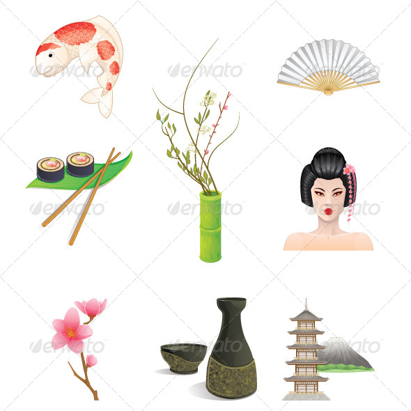 GraphicRiver Japan Icons 5712657