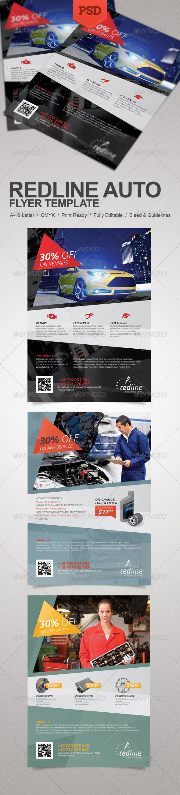 GraphicRiver Redline Auto Flyer 5712728