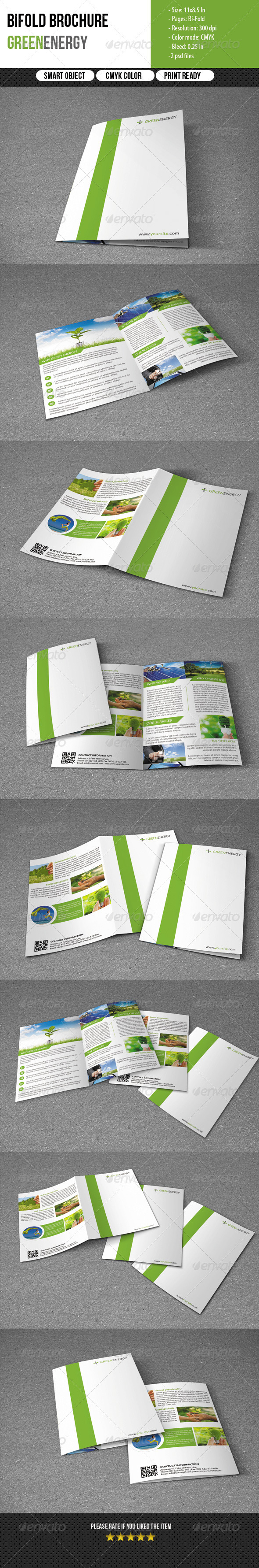 GraphicRiver Bifold Brochure for Green Energy 5712937