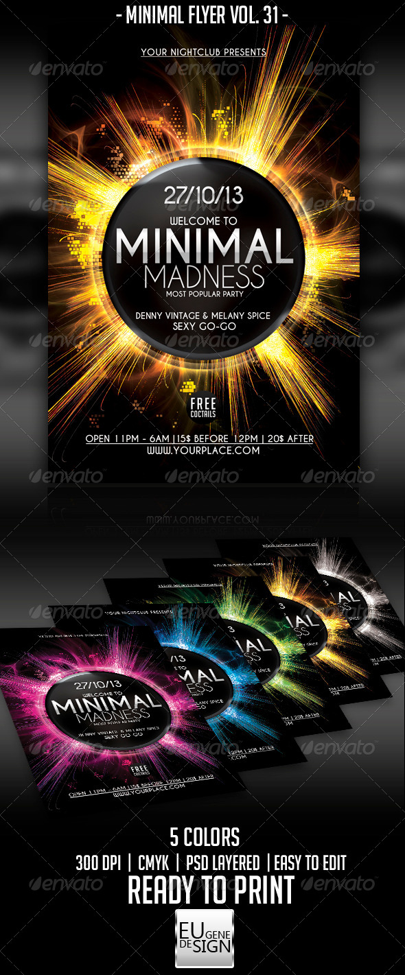 GraphicRiver Minimal Flyer Vol 31 5713254