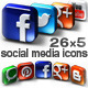 26 Social Media Icons from 5 Different Angles - GraphicRiver Item for Sale