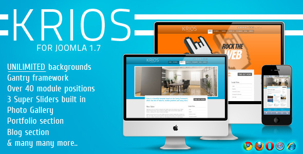 Krios Template for Joomla - ThemeForest