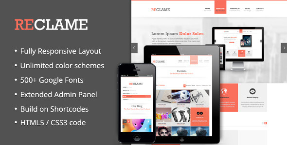 Reclame - Responsive Wordpress Theme - Corporate WordPress