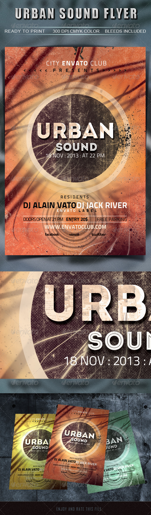GraphicRiver Urban Sound Flyer 5714483