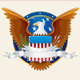 Old Scroll with American Eagle. Vector Background - GraphicRiver Item for Sale