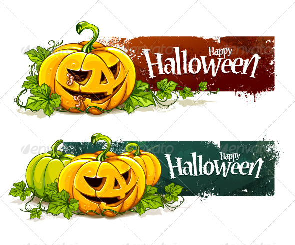 GraphicRiver Grunge Halloween Banners 5716631