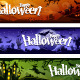Cartoon Halloween Banners Set - GraphicRiver Item for Sale