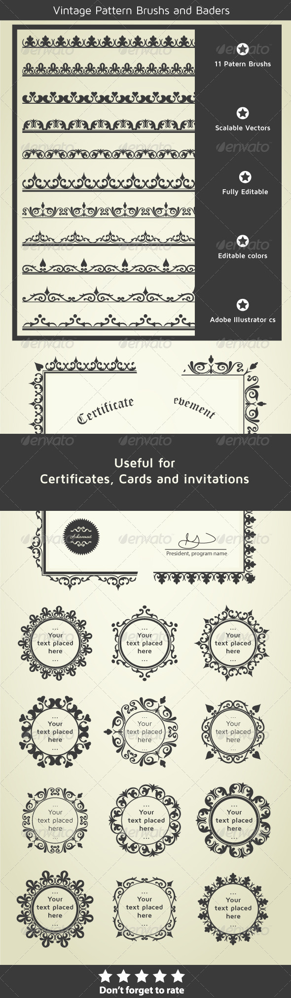 GraphicRiver Borders for Certificates Invitations and Cards 5716668