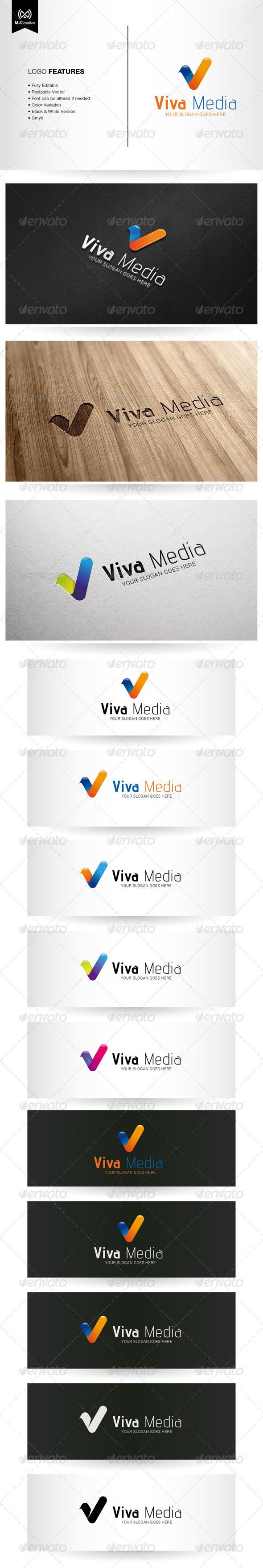 GraphicRiver Viva Letter V Logo 5716947