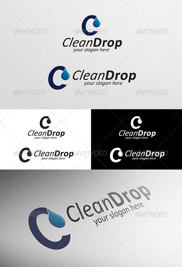 GraphicRiver Clean Drop Logo 5717570