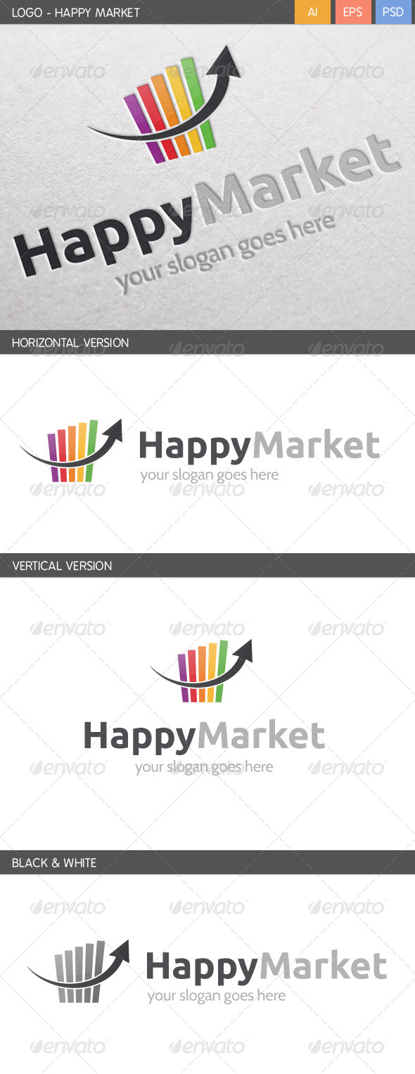 GraphicRiver Happy Marketing Logo 5718071