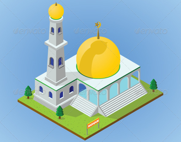 GraphicRiver Isometric Mosque 5718294
