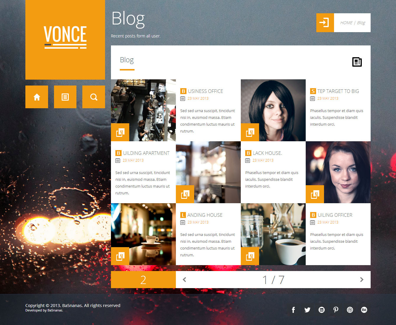 Vonce - This's blog page, Top right it's breadcrumbs. :)