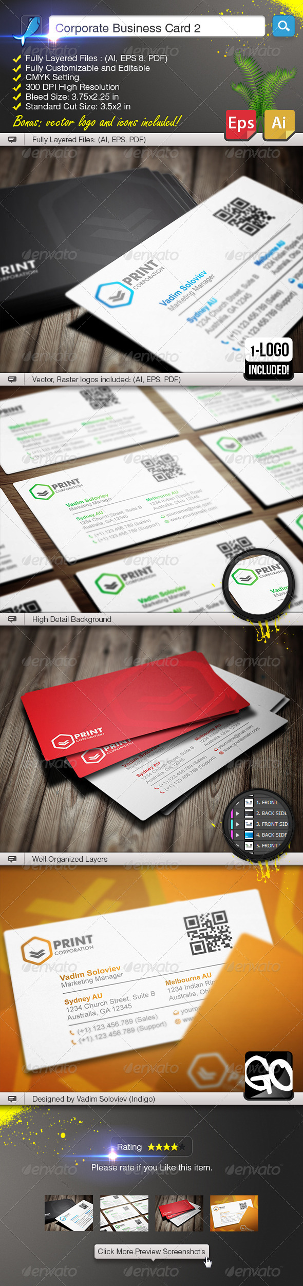 GraphicRiver Corporate Business Card 2 5719699