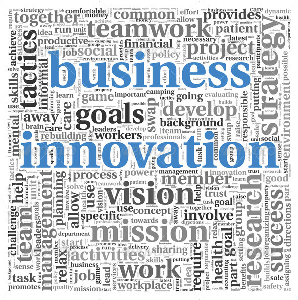 Business innovation concept in word tag cloud - Stock Photo - Images