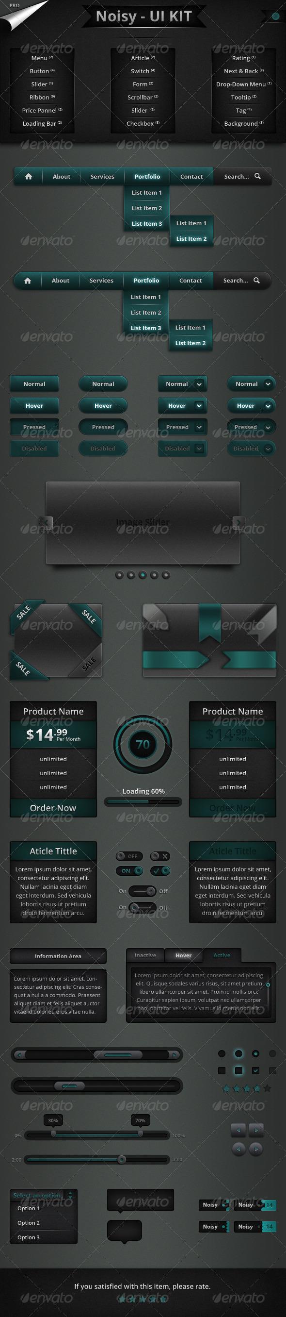 GraphicRiver Noisy UI KIT Pro 5721942