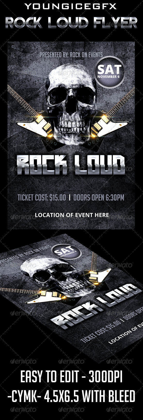 GraphicRiver Rock Loud Flyer 5722248