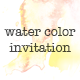 Water Color Invitation - GraphicRiver Item for Sale