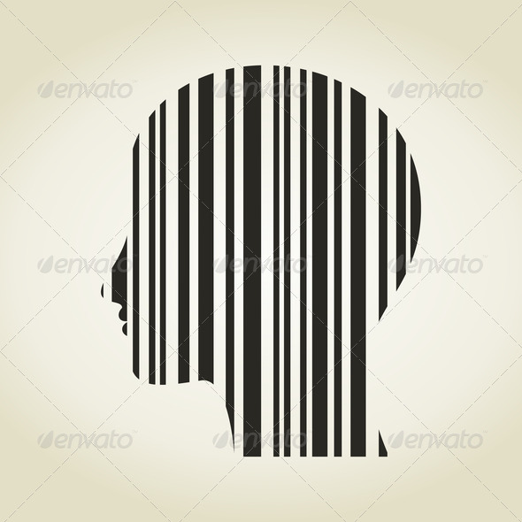 Head stroke a code - Stock Photo - Images