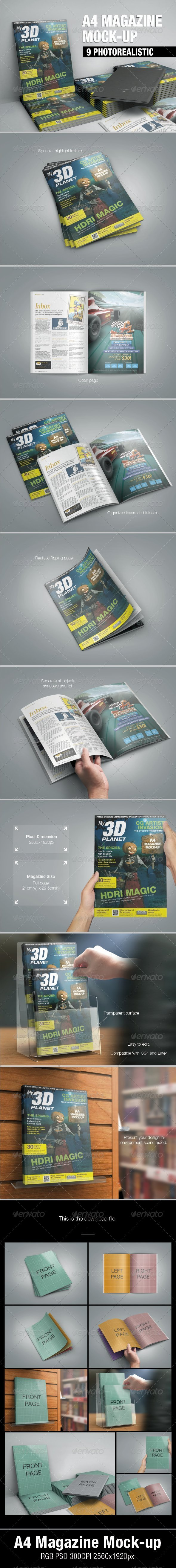 A4 Magazine Mock-up - Magazines Print