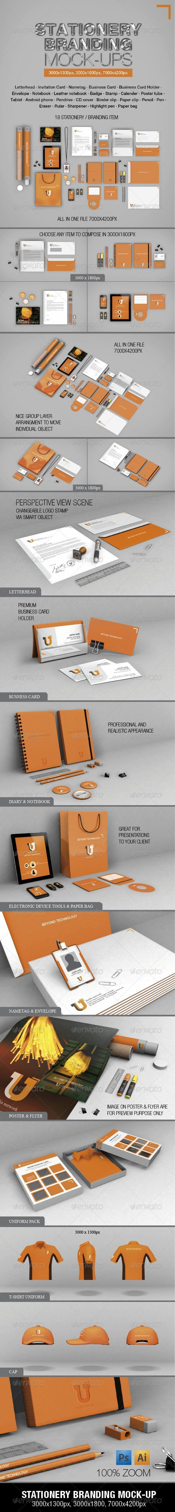 Stationery Branding Mock-ups - Stationery Print