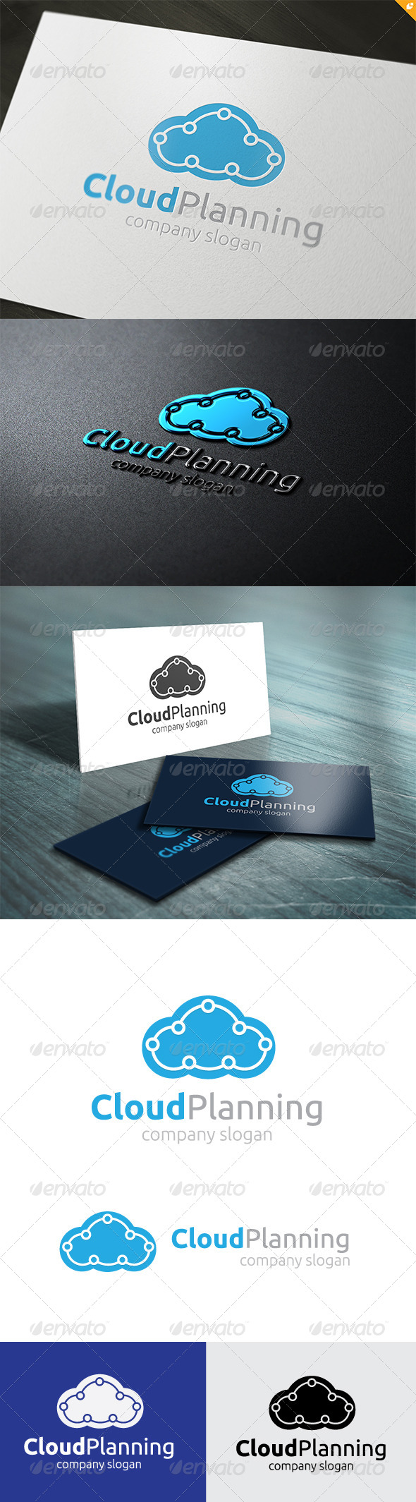 GraphicRiver Cloud Planning Logo 5723668