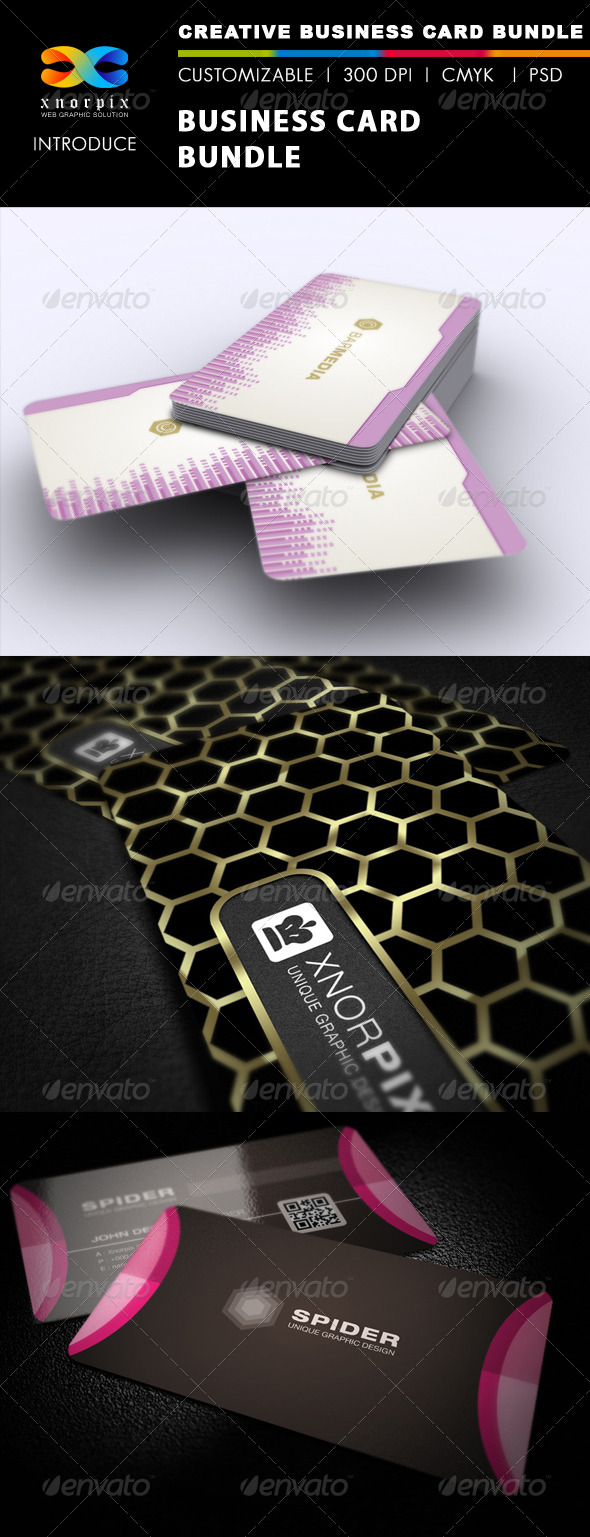 GraphicRiver Business Card Bundle 3 in 1-Vol 28 5723871