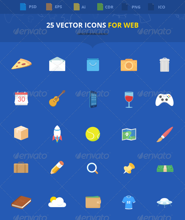 GraphicRiver 25 Vector Icons For Web 5724051