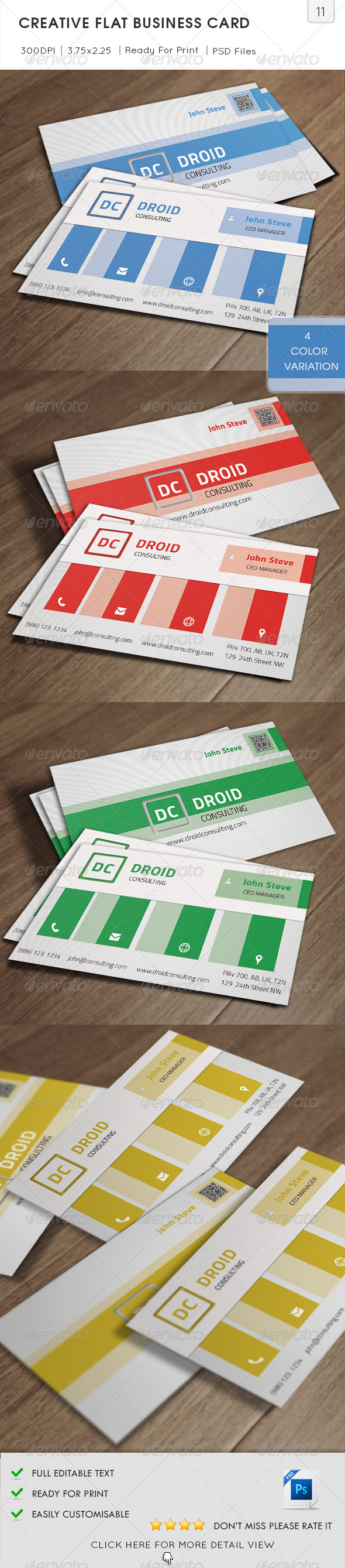 GraphicRiver Creative Flat Business Card v11 5724583