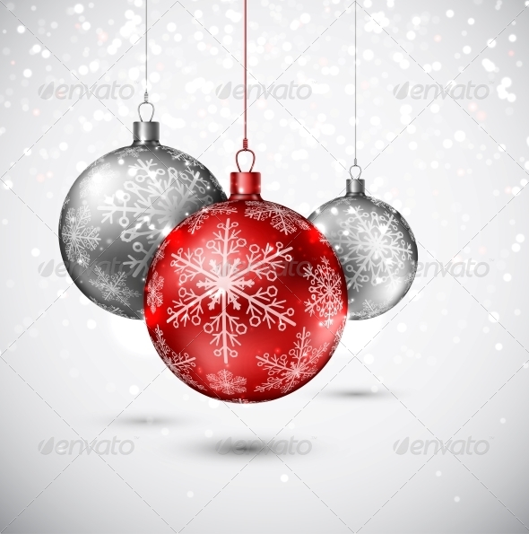 GraphicRiver Background with Christmas balls 5726058