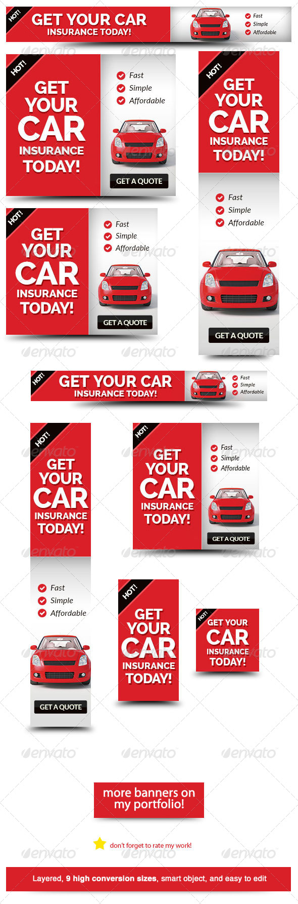 GraphicRiver Cheap Car Insurance Web Banner Ad 5726214
