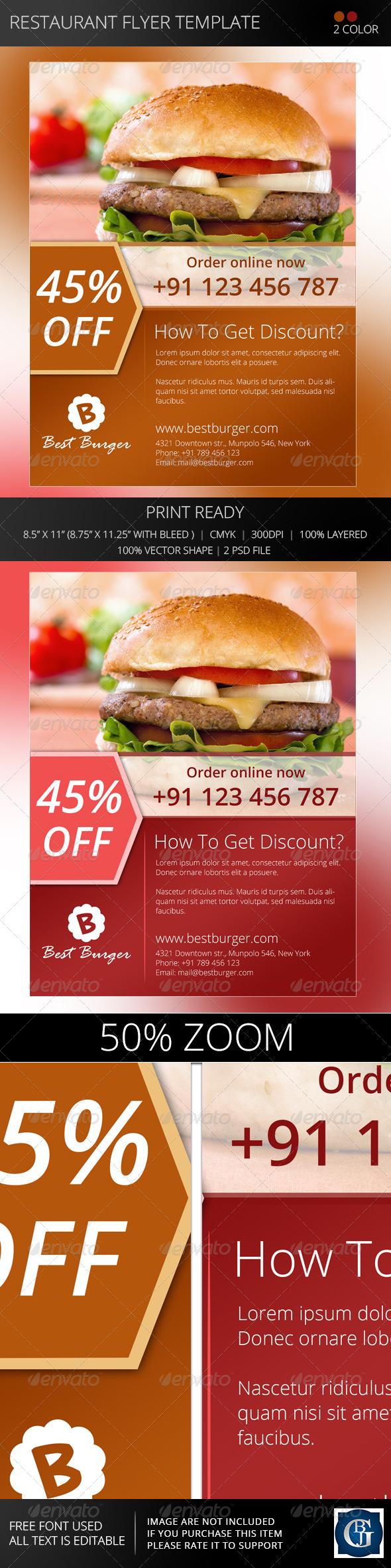GraphicRiver Restaurant Flyer Template V 01 5648597