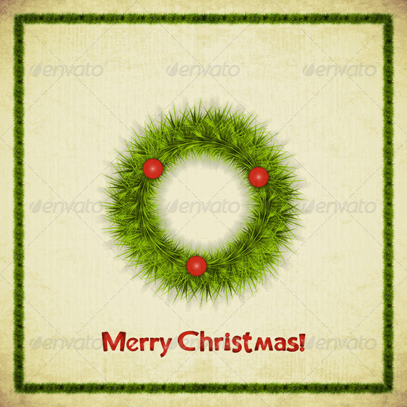 GraphicRiver Christmas Wreath 5726953