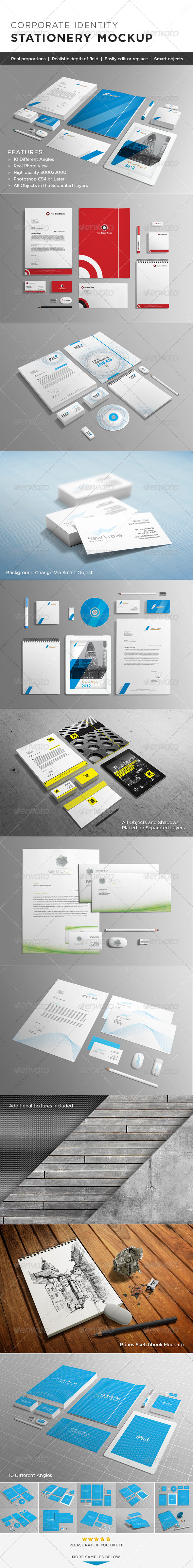 Photorealistic Stationery Mock-up - Stationery Print