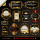 Dark Gold-Framed Labels - GraphicRiver Item for Sale