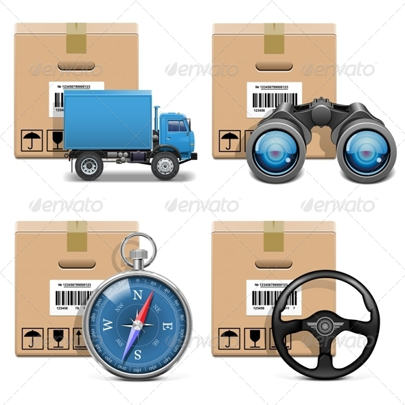 GraphicRiver Vector Shipment Icons Set 11 5727450