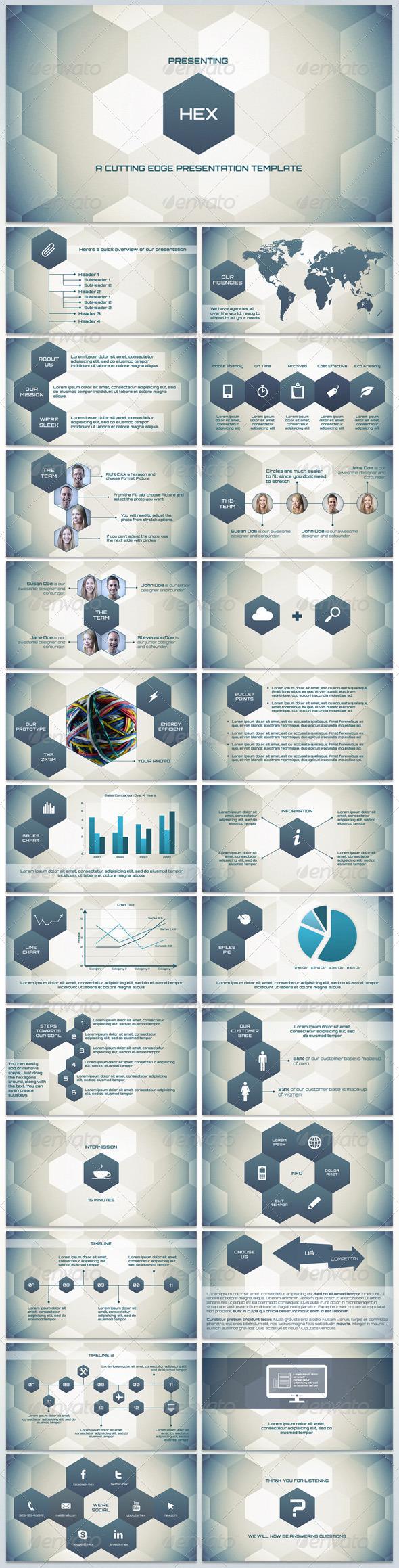 GraphicRiver Hex Cutting Edge Presentation 5727788