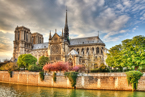 Notre Dame de Paris - Stock Photo - Images