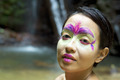 Tribal Face painting in jungle - PhotoDune Item for Sale