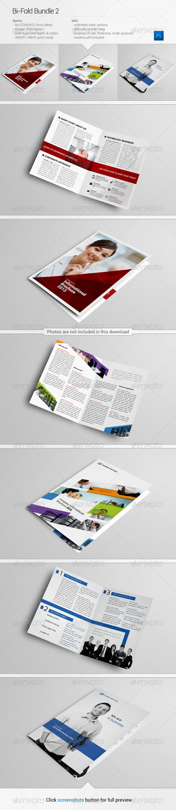 GraphicRiver Bi-Fold Bundle 2 5664426