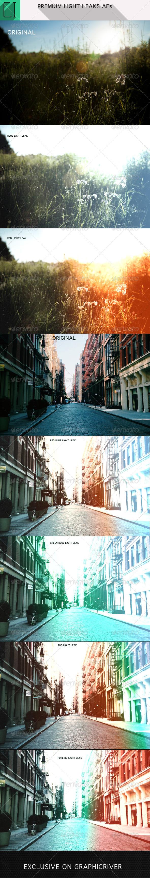 GraphicRiver Premium Light Leaks Photoshop AFX 5728100